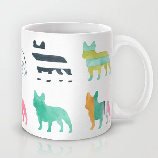 French Bulldogs Mug by Anne Was Here at Society6.com