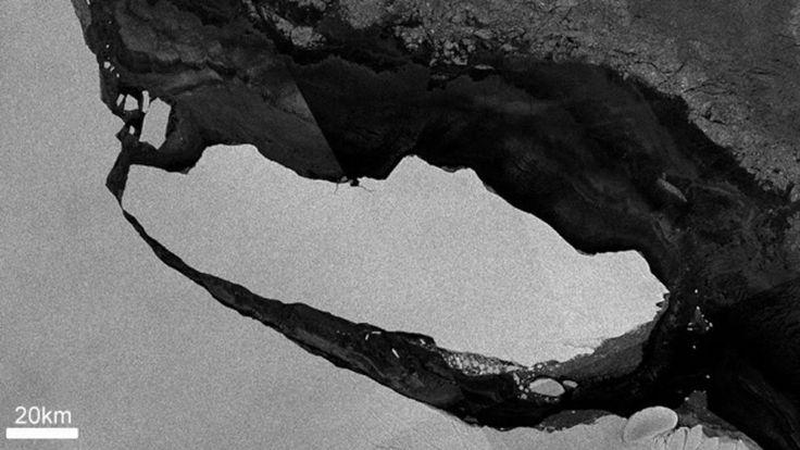 El A-68, que se desprendió de un témpano antártico el pasado mes de julio, es el iceberg de mayor tamaño registrado en la historia. El gigantesco iceberg que se separó de la placa de hielo antártica Larsen C en julio pasado va revelando poco a poco un vasto ecosistema submarino que había estado ocu