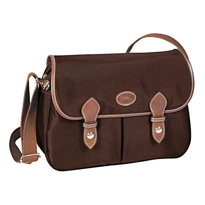 Longchamp Le Pliage Messenger Bags Chocolate