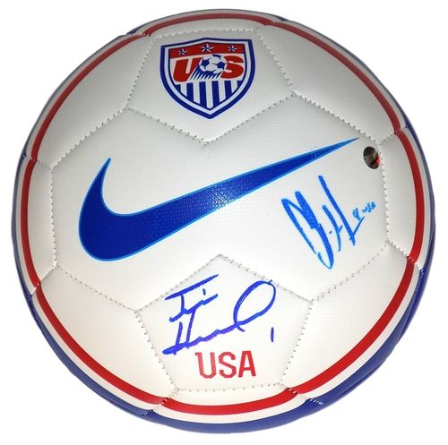 Tim Howard Clint Dempsey Signed USA Soccer Ball Steiner+SI