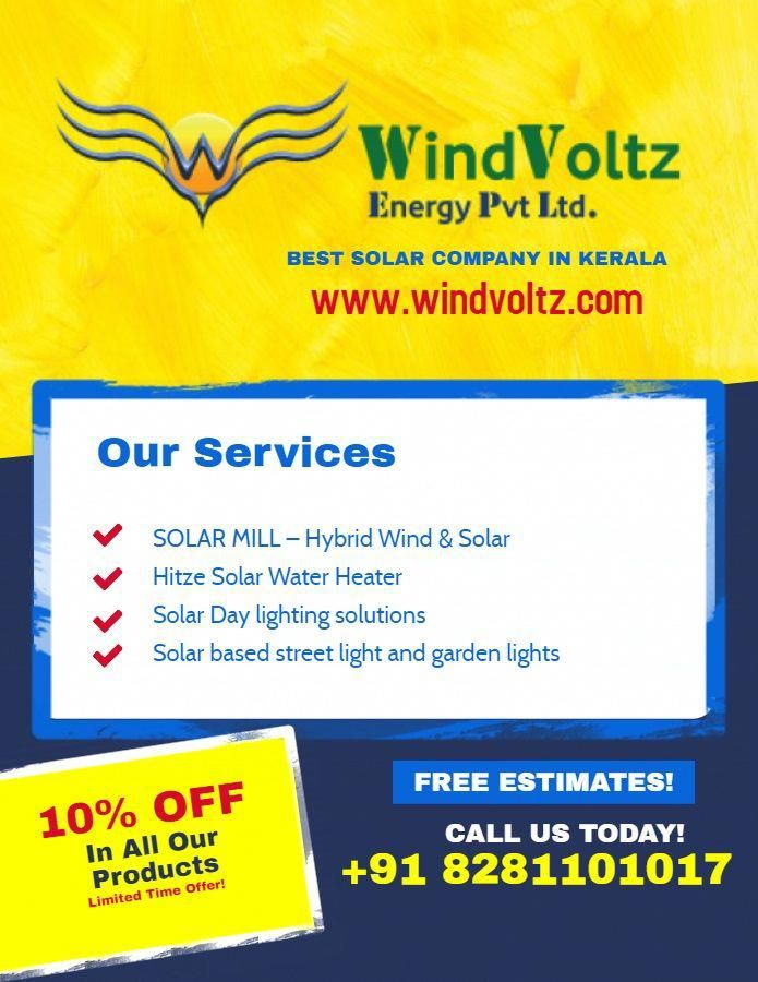 Windvoltz Is The Top Most Solar Energy Manufacturer And Proudly Known As The Best Platform For Providing Green In 2020 Solar Energy Panels Solar Solutions Solar Energy