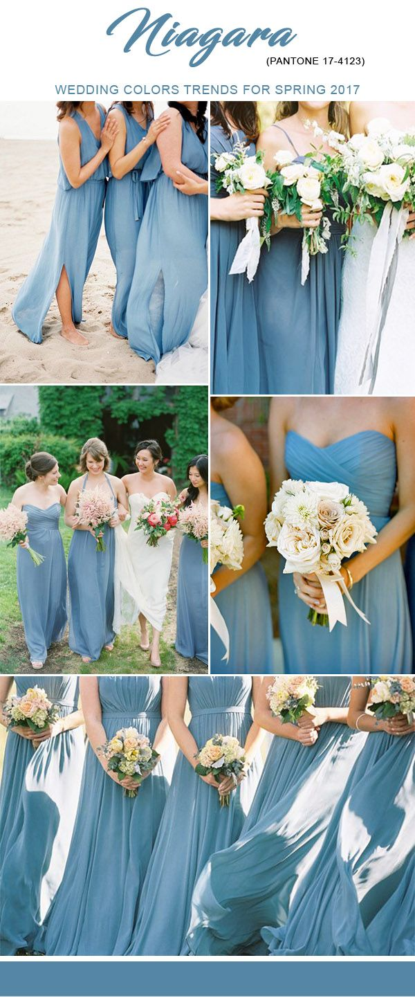 pantone color nigara blue bridesmaid dresses ideas for 2017 spring trends
