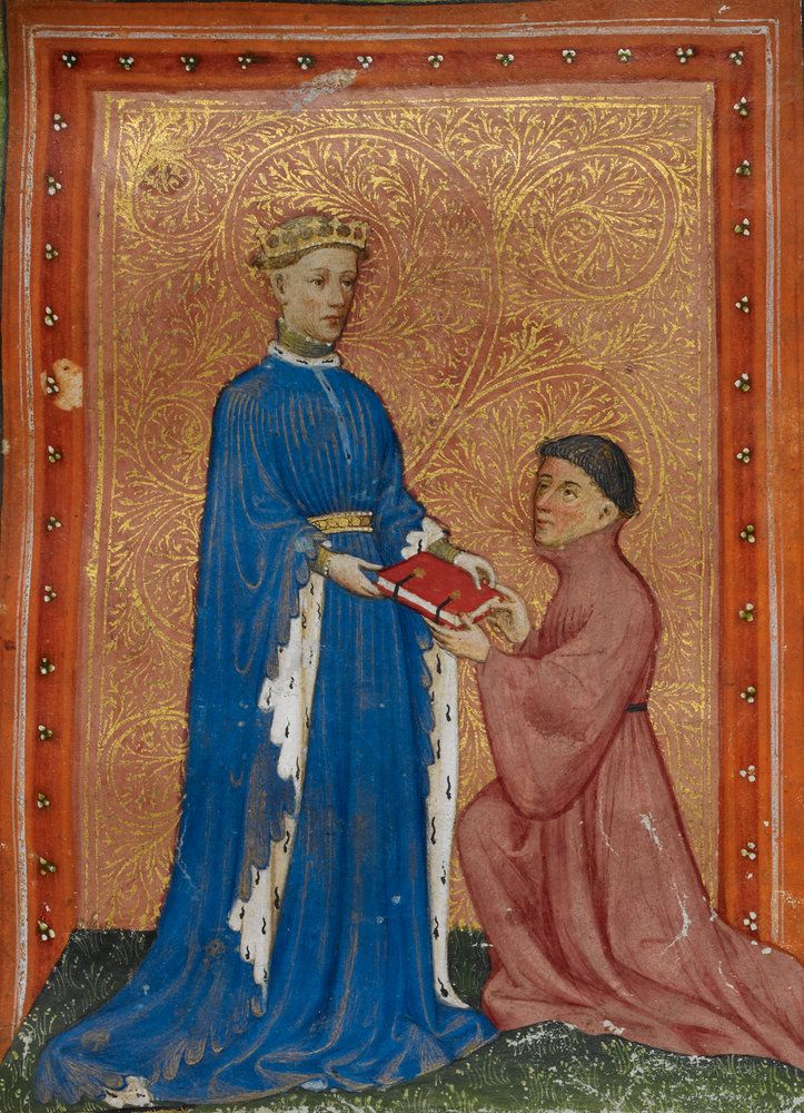 Title: De regimine principum Artist: Thomas Hoccleve Product code: G70018-17 Edition type: Open edition Copyright: © The British Library Board About: Prince Henry (Henry V) in the Regiment of Princes (London c.1411–13).