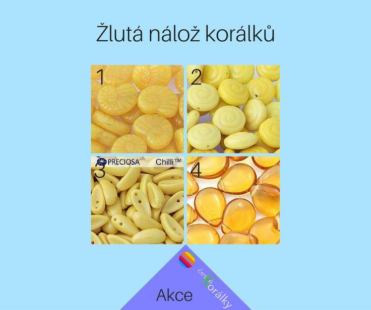 V akci máme žluté korálky. A to do 21. srpna. Tak neváhejte! http://www.ceske-koralky.cz/akce/#flag%5Bakce%5D=1&nofollow=1