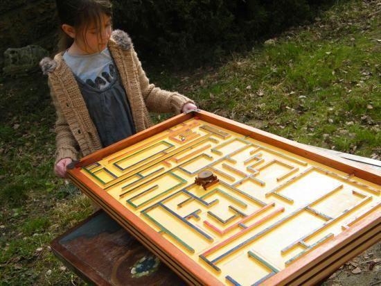 labyrinthe - jeu bois géant adresse estaminet