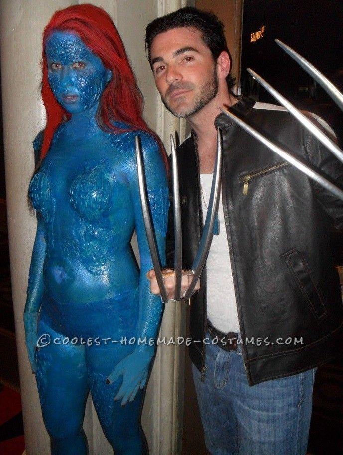 Hard Core X-Men's Mystique Costume... This website is the Pinterest of costumes