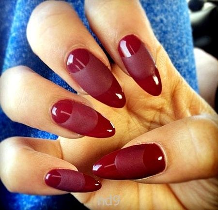 21 best nails images on pinterest almond nails nail scissors and dark red almond shape nails solutioingenieria Images