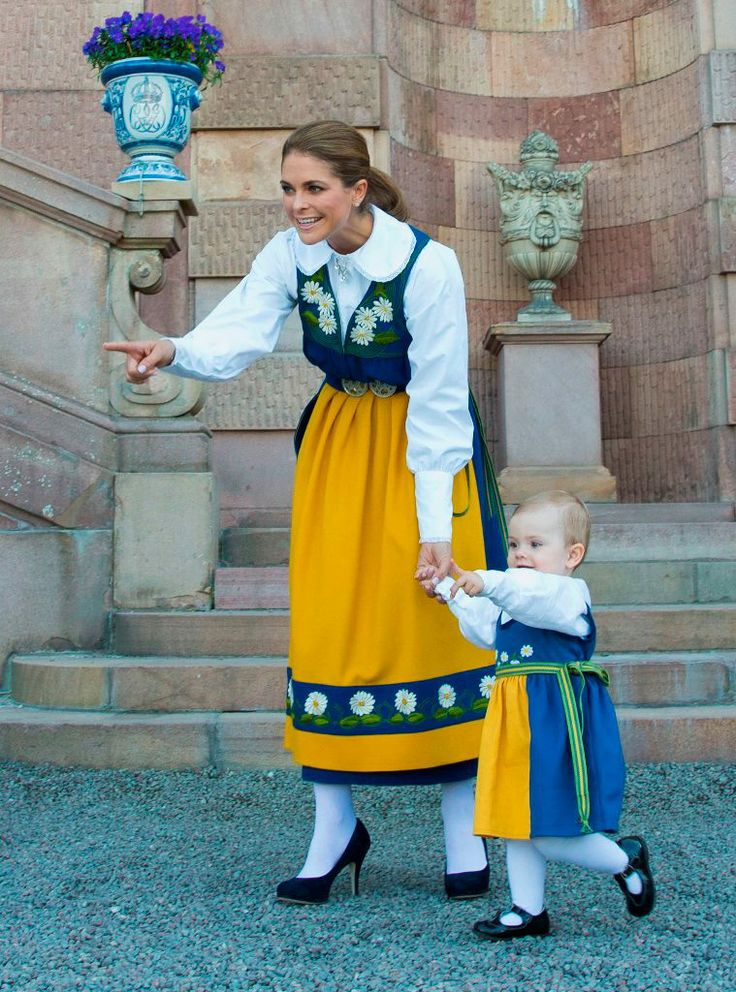 Princess Madeleine of Sweden's Facebook: Looking at our beautiful Swedish flag!