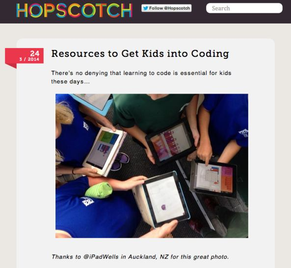 @ipadwells & OC on Hopsctch Blog: Using Hopscotch to code a flappy bird game. So cool!