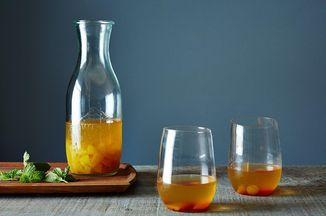 "Golden Plum Kir Royale ""Bowle,"" A Fruity Summer Wine Drink Recipe on Food52 recipe on Food52"