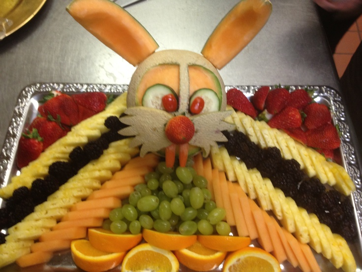 Easter bunny fruit tray easter pinterest funny for Apples for decoration
