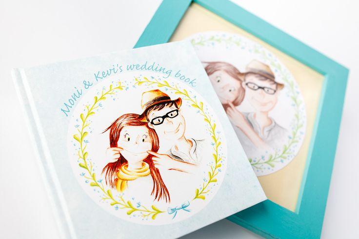Wedding booklet on Behance #wedding #custom #handmade #honeymoon #portrait #drawing #painting #couple #crafts