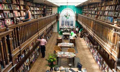 "Daunt Books, Marylebone ""one of the loveliest bookshops in London"""