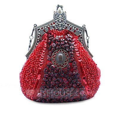 Sacs à main - $39.99 - élégant Satin avec Broderie de perles/Paillette/Imitation perle/Métal Pochettes/Boutonnières (012028133) http://jjshouse.com/fr/elegant-Satin-Avec-Broderie-De-Perles-Paillette-Imitation-Perle-Metal-Pochettes-Boutonnieres-012028133-g28133
