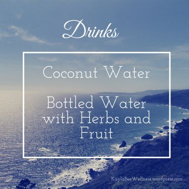 Drinks to have on hand during hurricane weather!  Kaylabeewellness.wordpress.com
