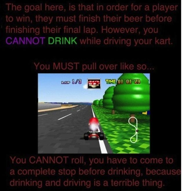 beerio mario kart rules and regulations