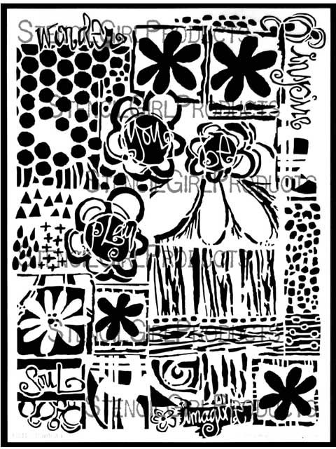 Tropical Floral Stencil | Traci Bautista | StencilGirl Products
