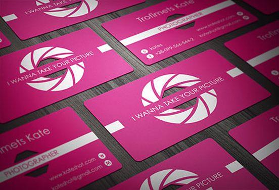 Photographer's Business Card Design