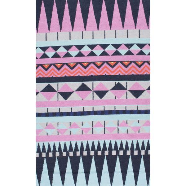 nuLOOM Southwestern Flatweave Wool Multi Rug (5' x 8')