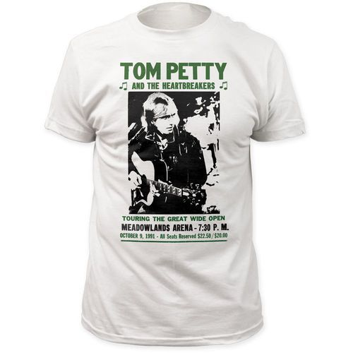 Classic Tom Petty and the Heartbreakers concert t-shirts are at Rocker Rags! Click now for Into the Great Wide Open Meadowlands Arena show tees. Free Shipping!