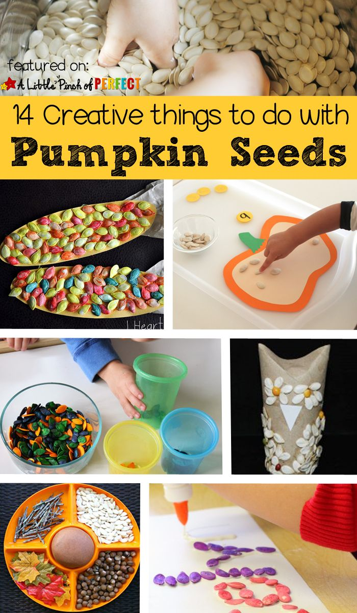 pumpkin seed activities for kids creative ways to craft play and learn with - Halloween Preschool Ideas