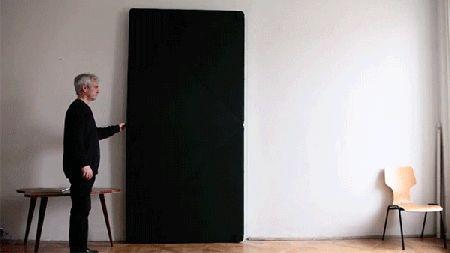 Multi-panel Door That Flips over to Open/Close