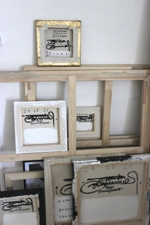 Le studio/atelier Black and white de Tenka Gammelgaard