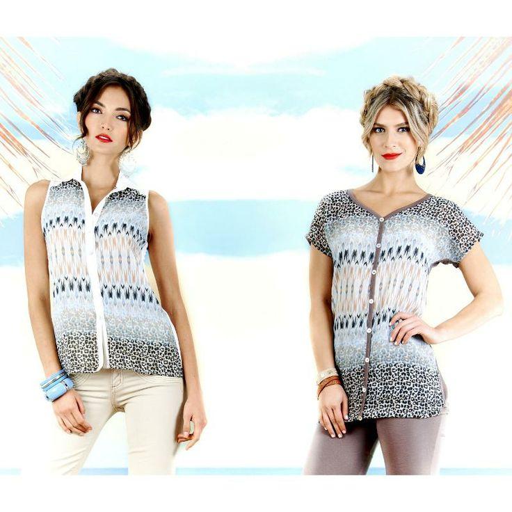 #Animalprint #look #Fashion #Trendy con las hermosas modelos colombianas Mariana Rodríguez y Laura Tobón