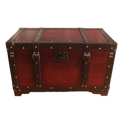 Phat Tommy Old School Antique Style Retro Decorative Steamer Storage Trunk