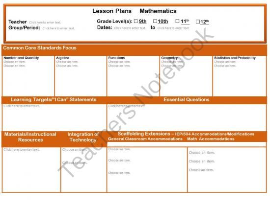 100 maths lesson plan template daily lesson planning template 2nd grade common core math lesson plan template 5e lesson plan template for math study pronofoot35fo Gallery