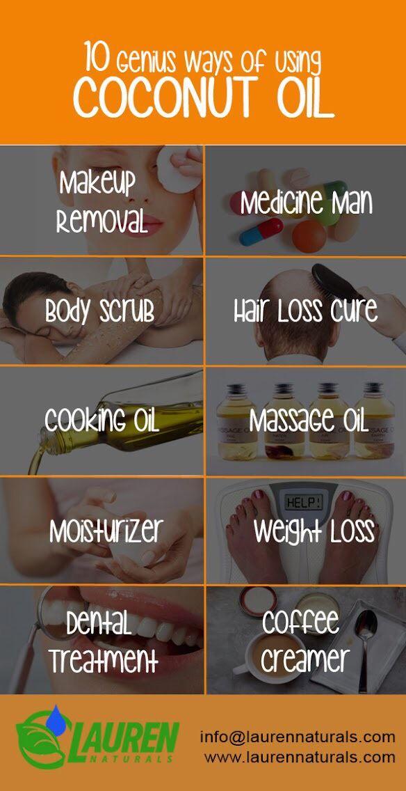 10 Genus ways of using coconut oil.#Coconutoil #Coconutoilskin  #skincare #skincareroutine #laurennaturals