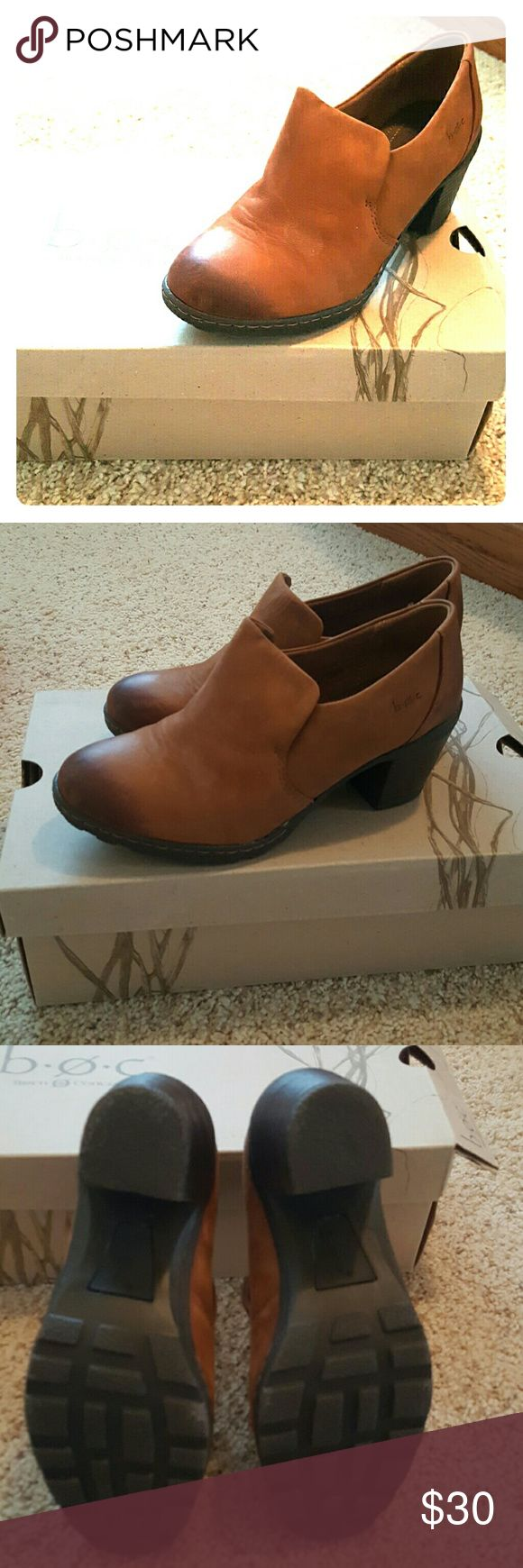 BOC BROWN SUEDE BOOTIES Brown suede, 2 inch heal. Like new with box. Worn once. Born Shoes Ankle Boots & Booties