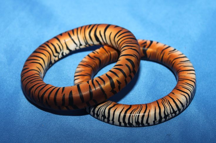 Tiger Cane Bangle from Premo by Ruth Steiner. #Polymer #Clay #Tutorials