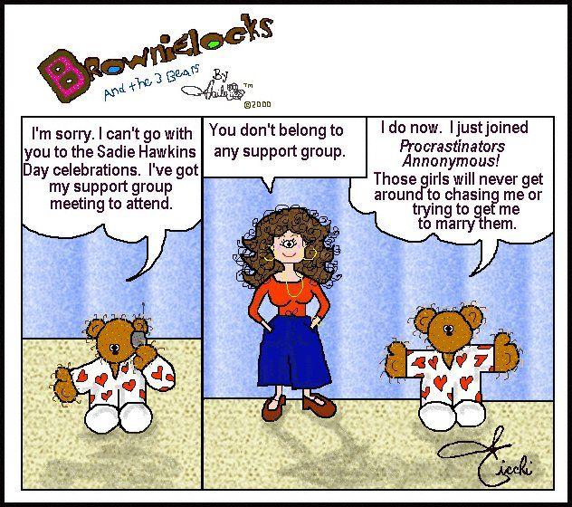 Sadie Hawkins Day Cartoon Fun by Brownielocks and The 3 Bears.