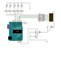 Circuit diagram for creating a Light Level Sensor Along With Light Compensation using Arduino / Microcontroller