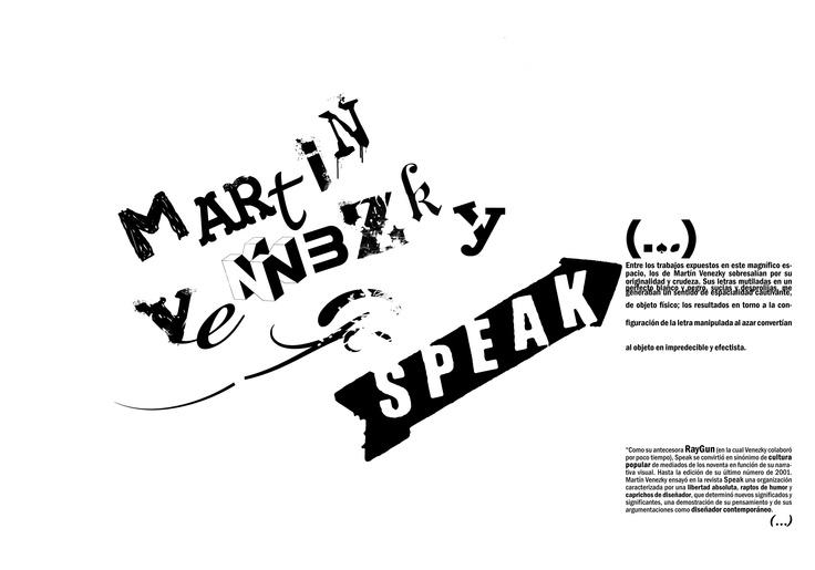 Tipografía I - Cátedra Gaitto - Martin Venezky - Trabajo con estética de autor