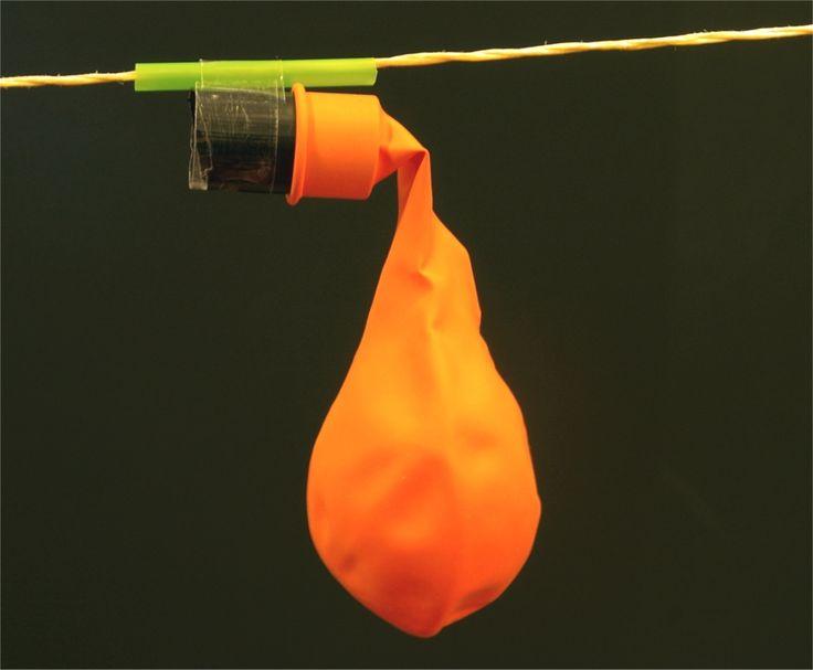 Die Ballonrakete an der Schnur