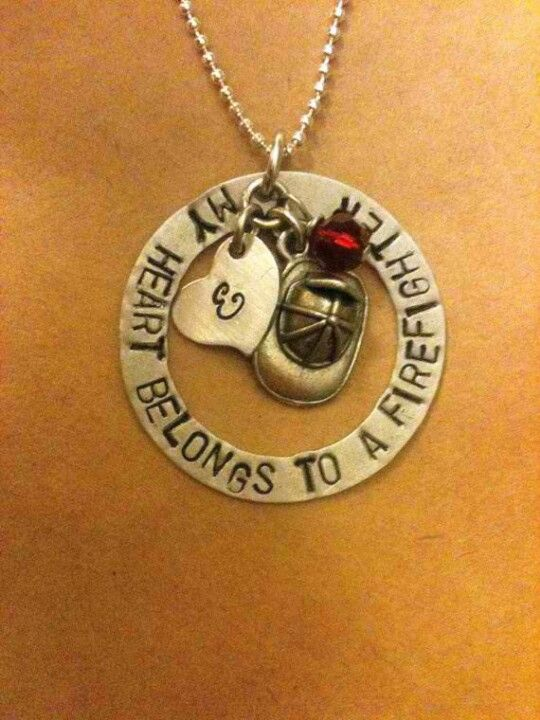 Firefighter necklace. this could be a perfect gift for someone! =)