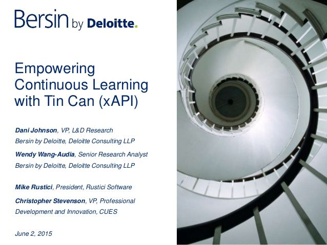 Webinar: Empowering Continuous Learning with the Tin Can API (xAPI)