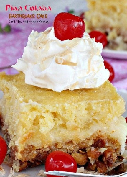 Pina Colada Earthquake Cake | AllFreeCasseroleRecipes.com