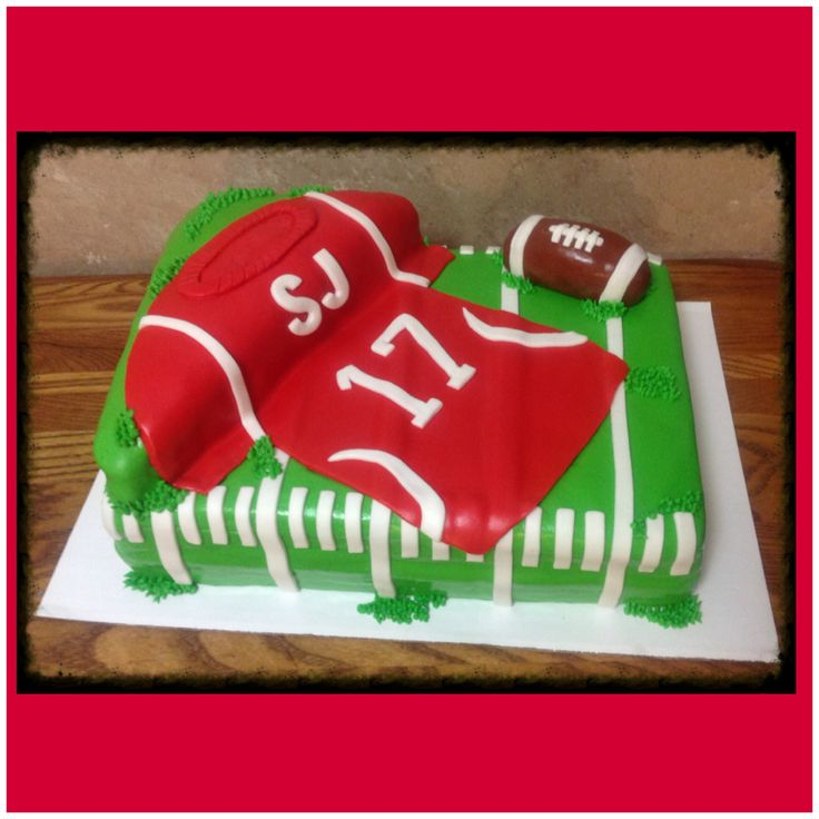 Football jerseys, Baby shower cakes and Shower cakes on Pinterest