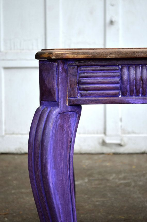 Distressed purple endtables sidetables entry or by BlackSheepMill, $250.00 Chalk painted distressed furniture
