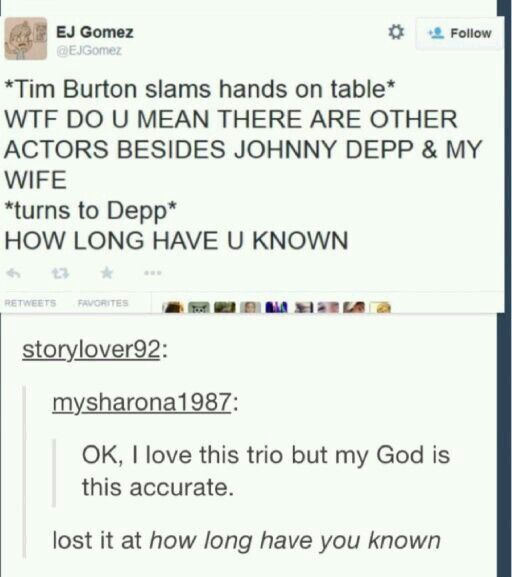 Oh Tim Burton you!