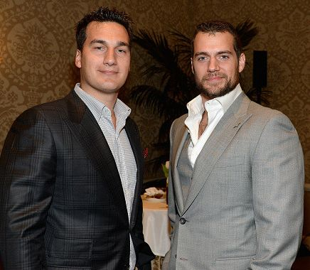 HENRY CAVIL AND CHARLIE CAVILL AT BAFTA LA TEA.  Promethean Productions team.