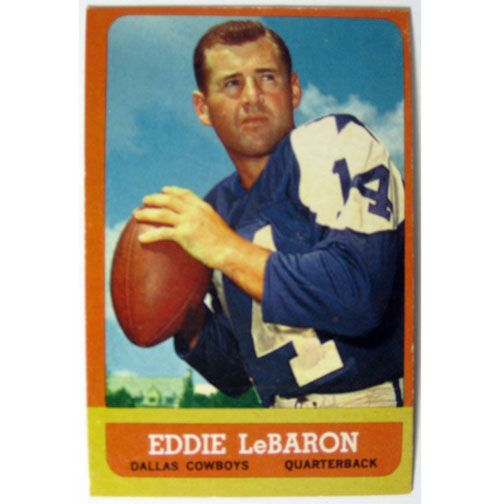 Football Cards  | 1963 Topps Eddie LeBaron Dallas Cowboys Football Card # 73=