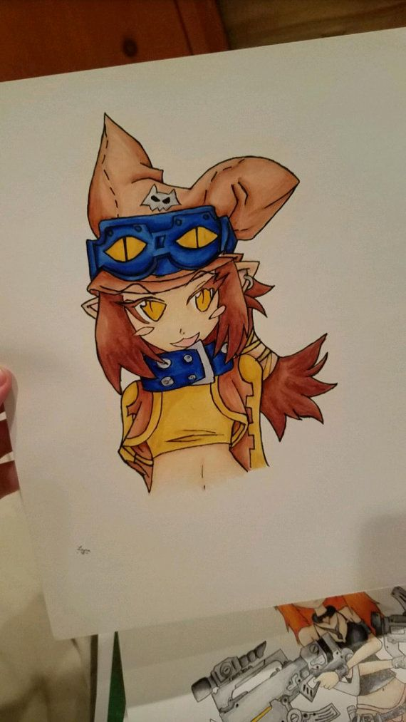 theif disgaea copic marker drawing by NyesHandCrafted on Etsy