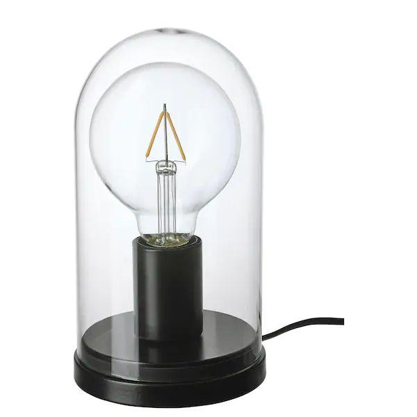 Ropudden Lunnom Globe Dome Table Lamp With Light Bulb Ikea En 2020 Pied De Lampe De Table Lampes De Table Lumieres Ampoule