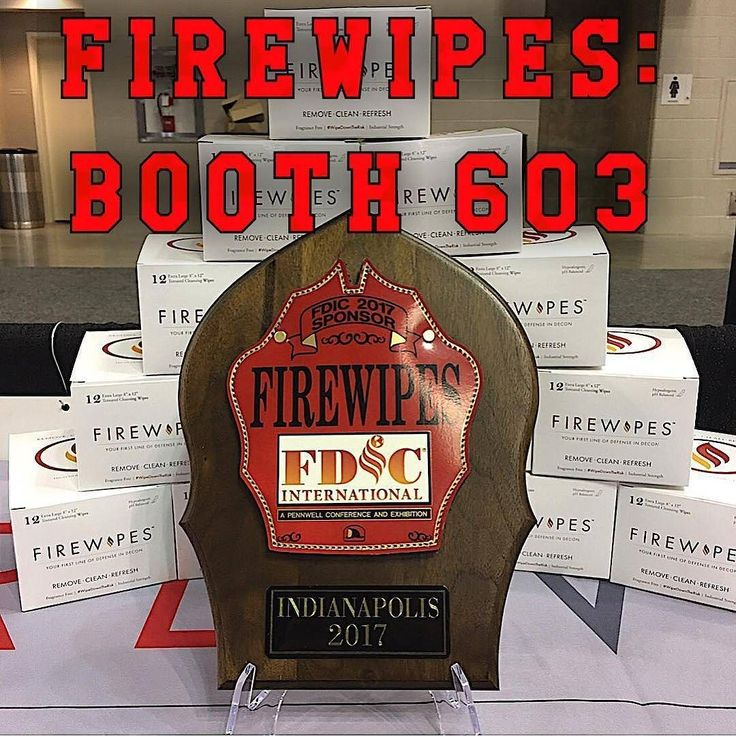 WWW.FIREWIPES.COM @firewipes -  Firewipes is a proud sponsor of FDIC 2017 and provided all of the decon wipes used in the Hot Classes. It's just as important to be safe during training scenarios. Come by Booth 603 for more info about on scene decon. #Firewipes #WipeDownTheRisk #IAFF #firefightercancersupportnetwork #fcsn #firefighter #fireservice #firefamily #fireandrescue #firedepartment #firedept #firefighterlife #firefighters #firefighters_daily #firefighters_unite…