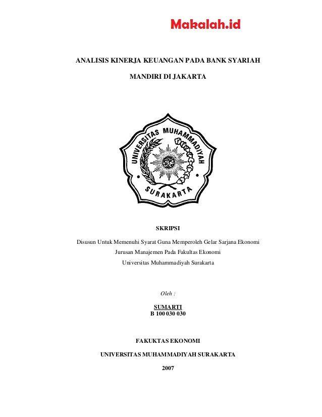 Judul Skripsi Ekonomi Syariah Terbaru 2018 Keuangan Belajar