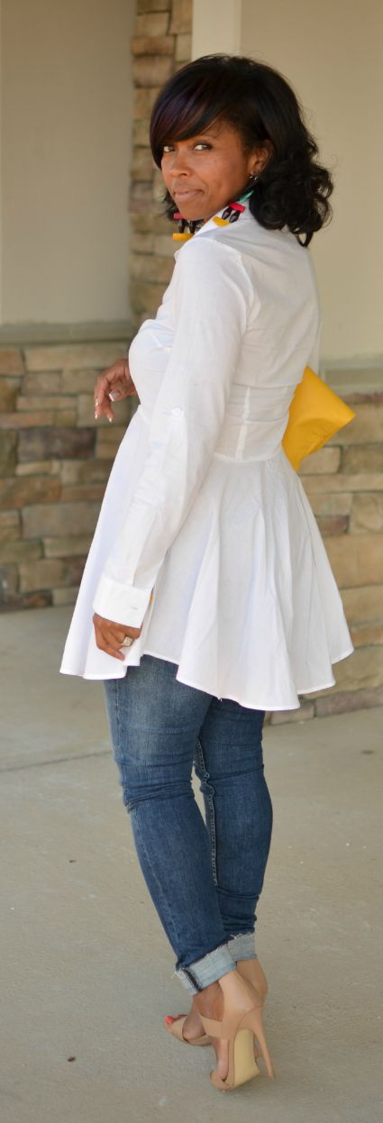 White Button Down Outfit Idea -Fall 2014